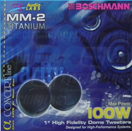 "Buy Boschmann 1"" 100 Watt Car Audio Dome Tweeters Pair in NZ New Zealand."