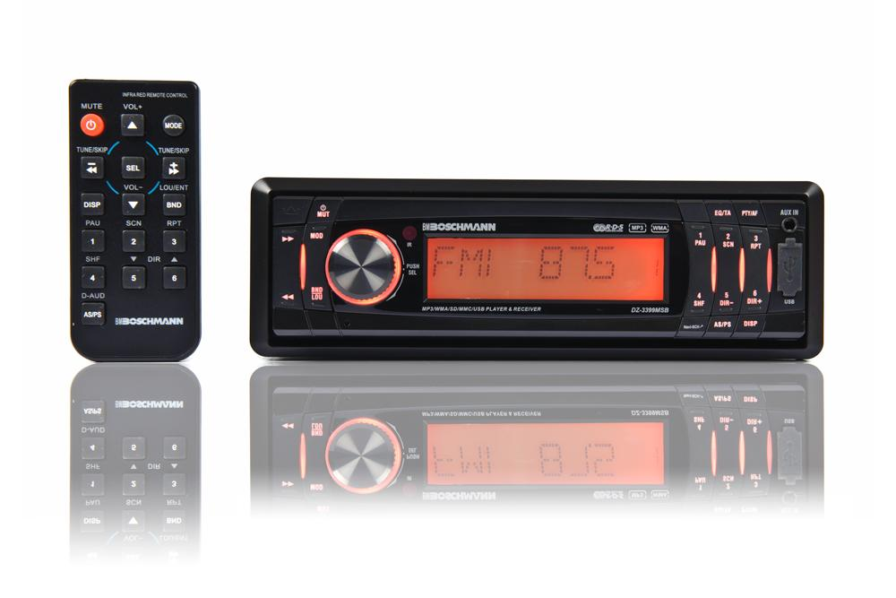Buy Boschmann MP3/WMA/Front Aux/USB/SD AM/FM Headunit in NZ New Zealand.